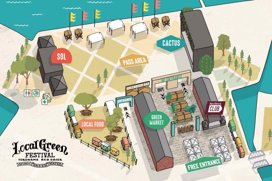 Local Green Festival 2019 エリアマップ