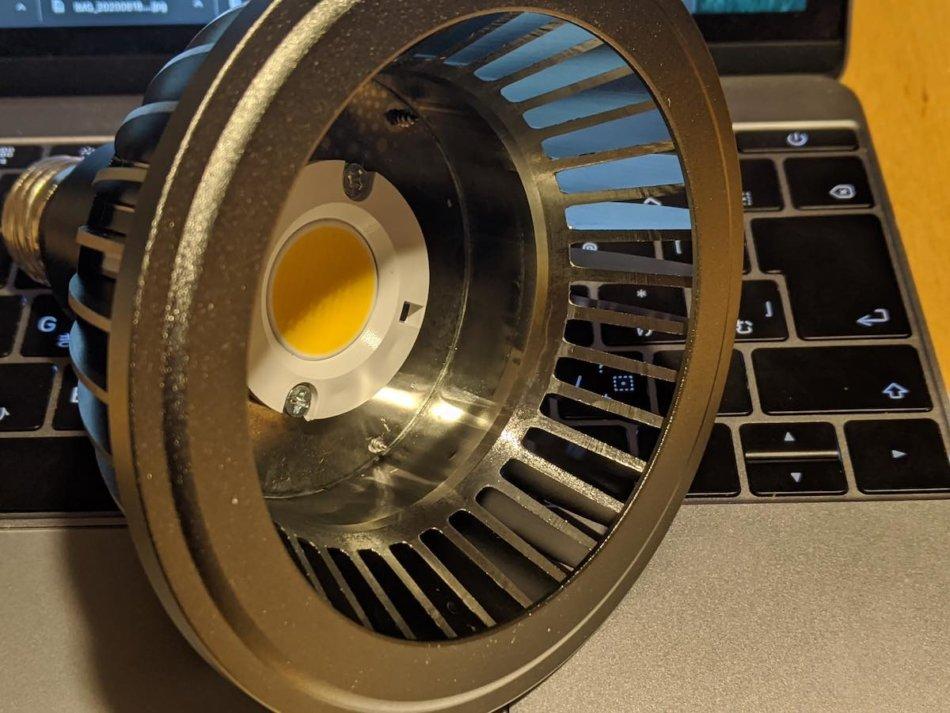 アマテラス(AMATERAS LED)の外観画像③:リフレクターを外した様子
