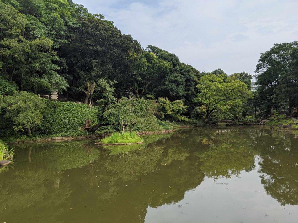 肥後細川庭園のビューポイントその1