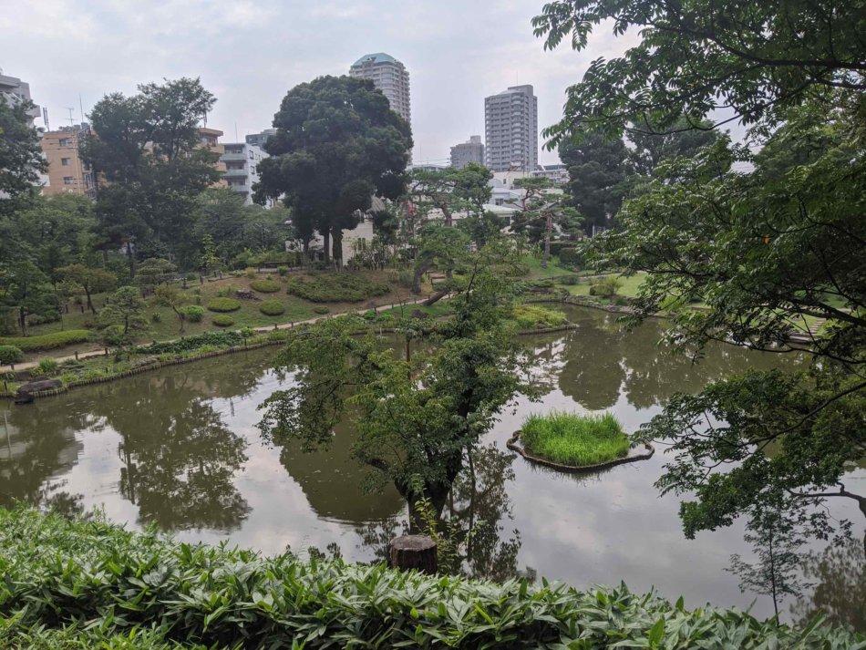 肥後細川庭園のビューポイントその2