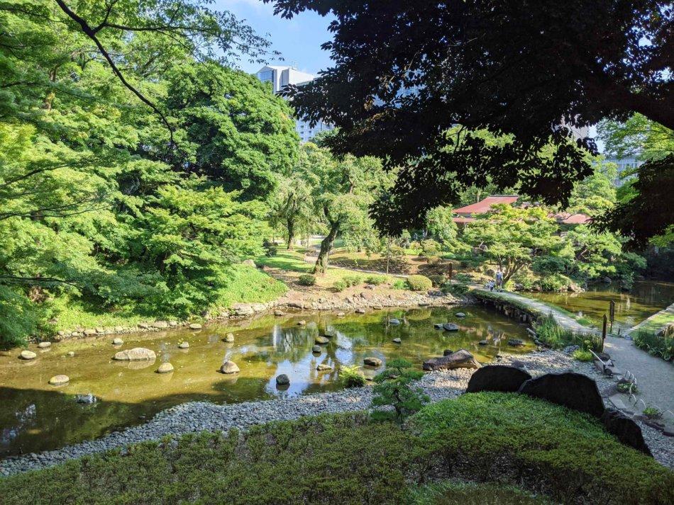 小石川後楽園の渡月橋