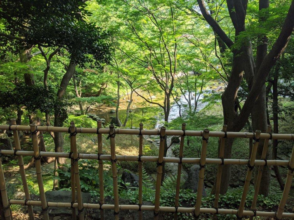 小石川後楽園の清水観音堂跡から
