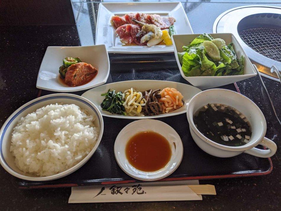 叙々苑:焼き肉ランチB(4,510円)