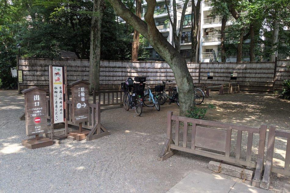 六義園の駐輪場