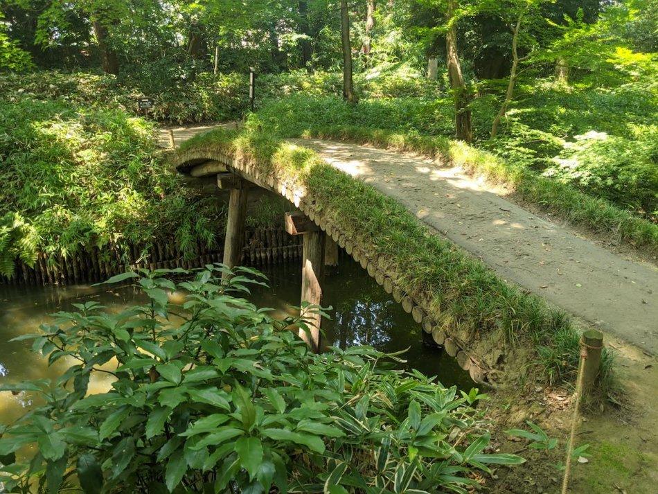 六義園:山陰橋