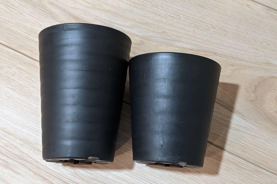 セラアート(長鉢)3寸と3寸Lの比較