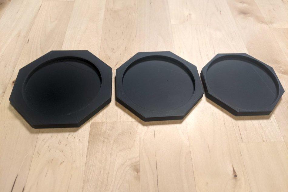3.5FR用の鉢皿(左から大中小)