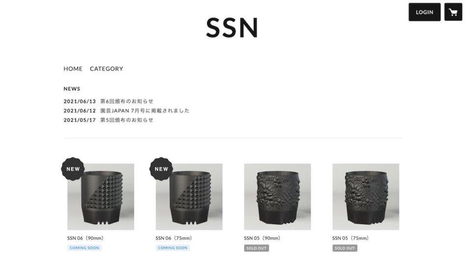 SSN stores販売ページ