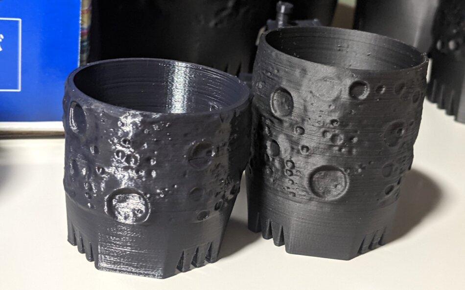 Polylite ASAのフィラメント印刷後の色味